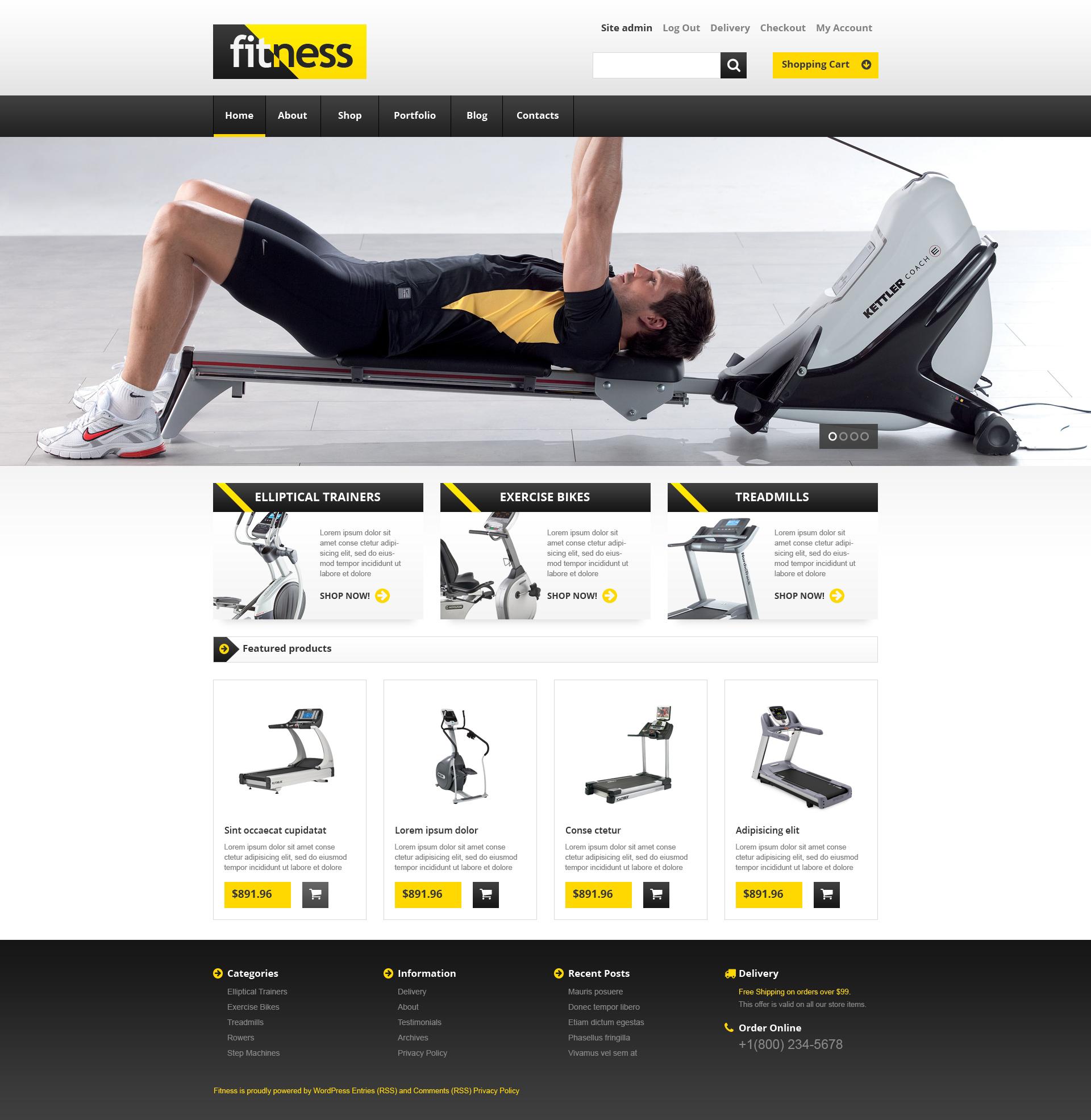 Training Equipment WooCommerce Theme - screenshot
