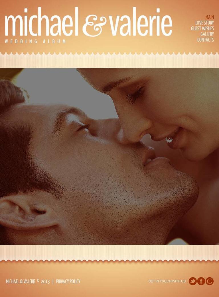 Wedding Album Facebook HTML CMS Template New Screenshots BIG