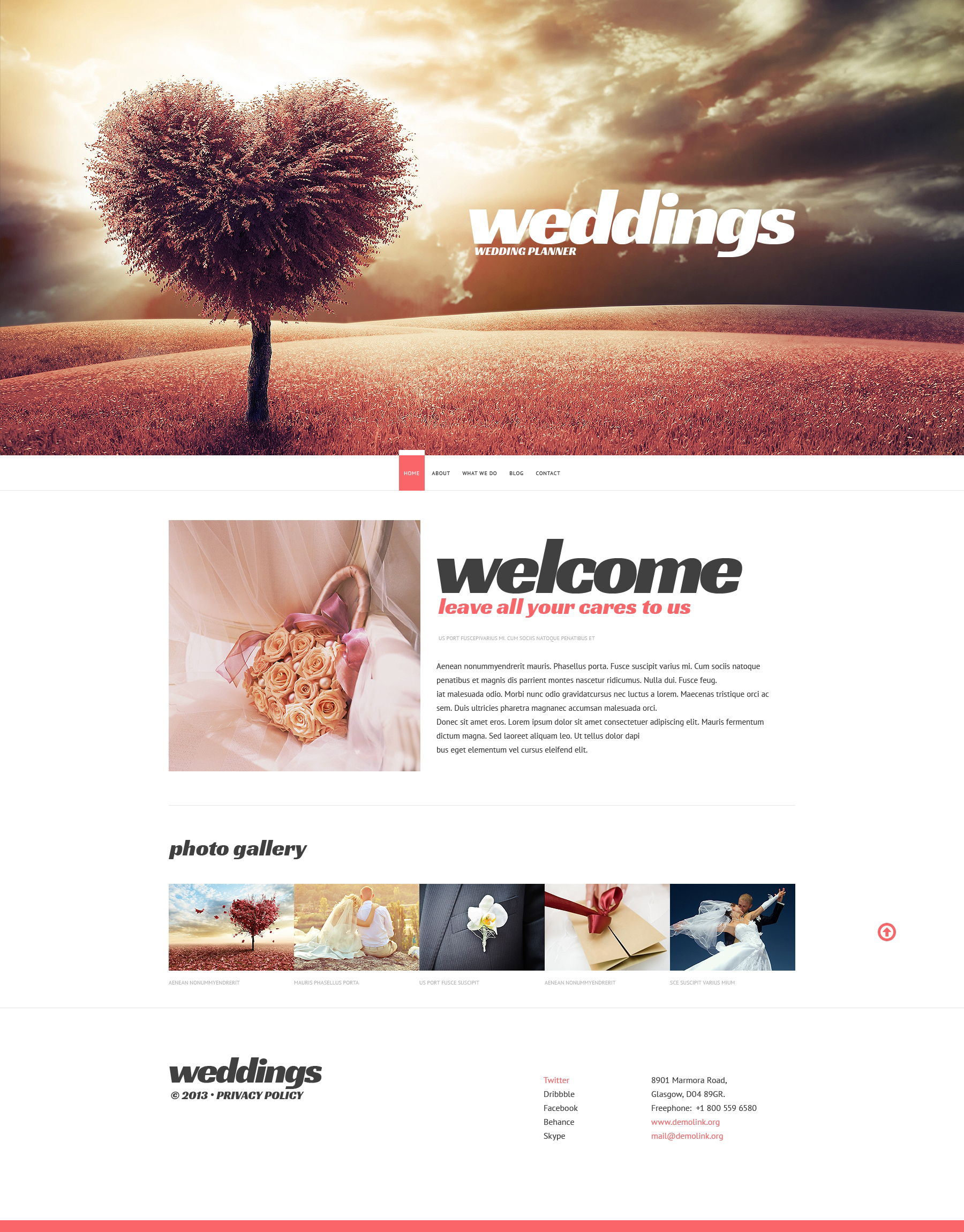 Wedding Planner Website Templates