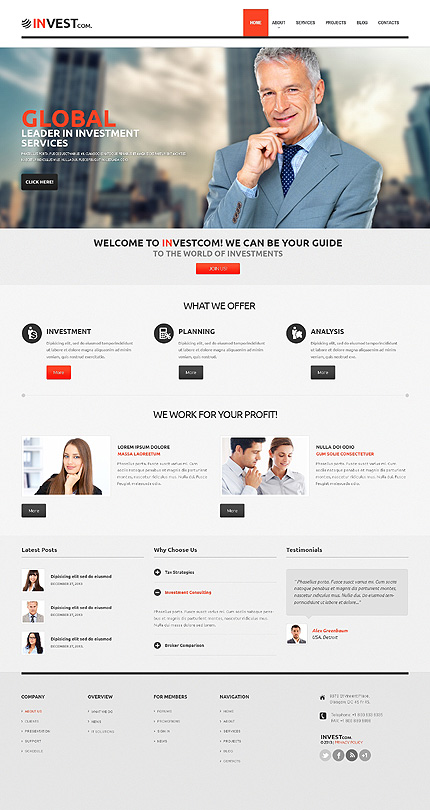 WordPress Theme/Template 47001 Main Page Screenshot