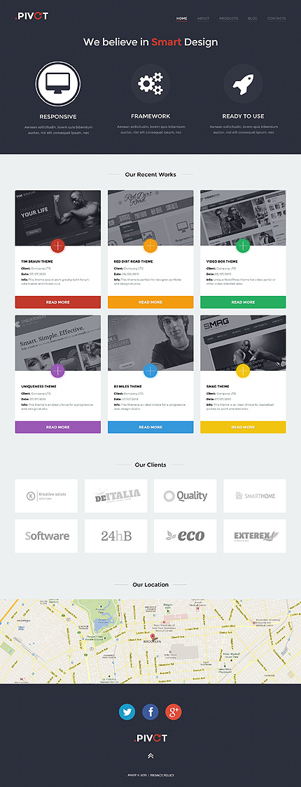 WordPress Theme/Template 47002 Main Page Screenshot