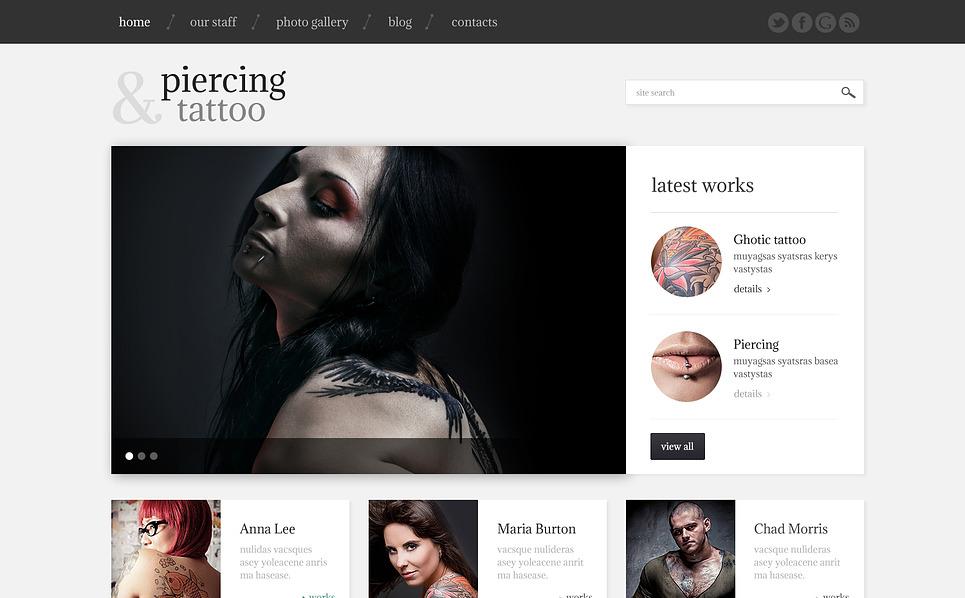 Responsive WordPress thema over Tatoeage Salon  New Screenshots BIG