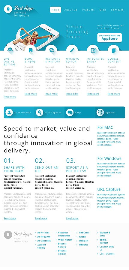WordPress Theme/Template 47009 Main Page Screenshot