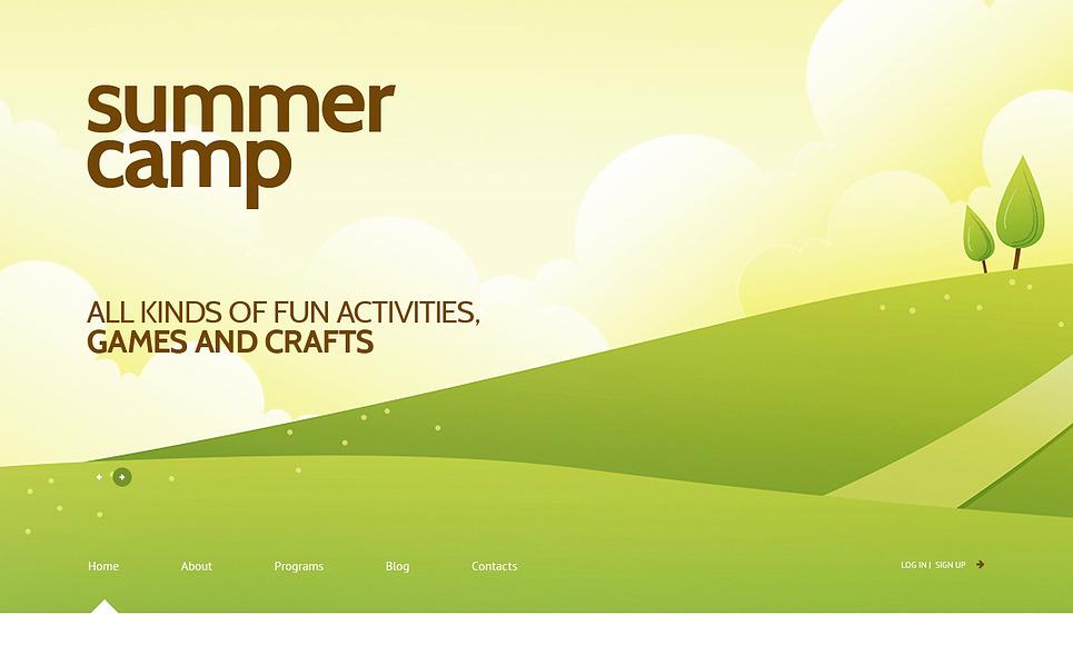 Responsywny motyw WordPress #47014 na temat: obóz letni New Screenshots BIG