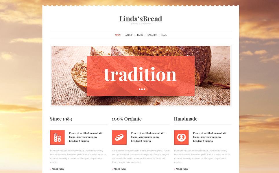 Responsive WordPress thema over Bakkerij  New Screenshots BIG