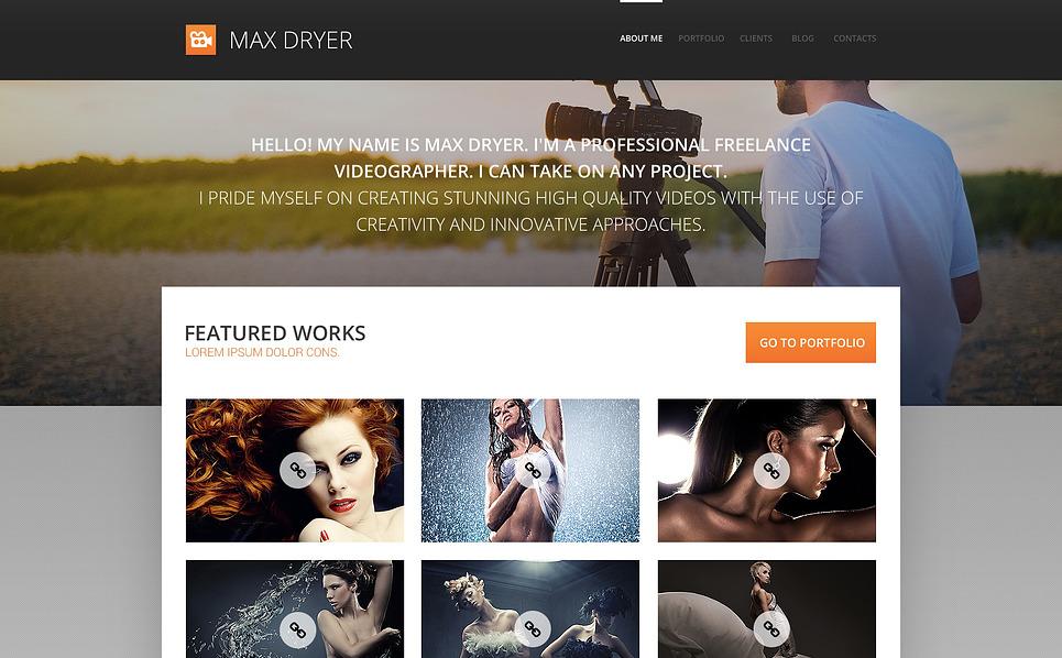 Responzivní WordPress motiv na téma Portfolio fotografa New Screenshots BIG
