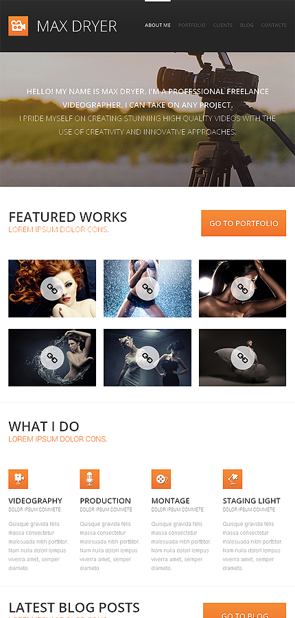 WordPress Theme/Template 47016 Main Page Screenshot