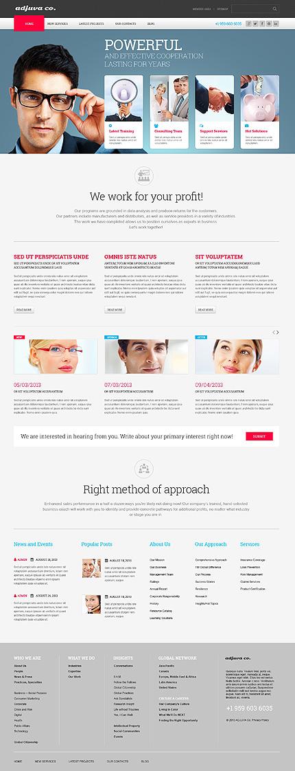 WordPress Theme/Template 47021 Main Page Screenshot