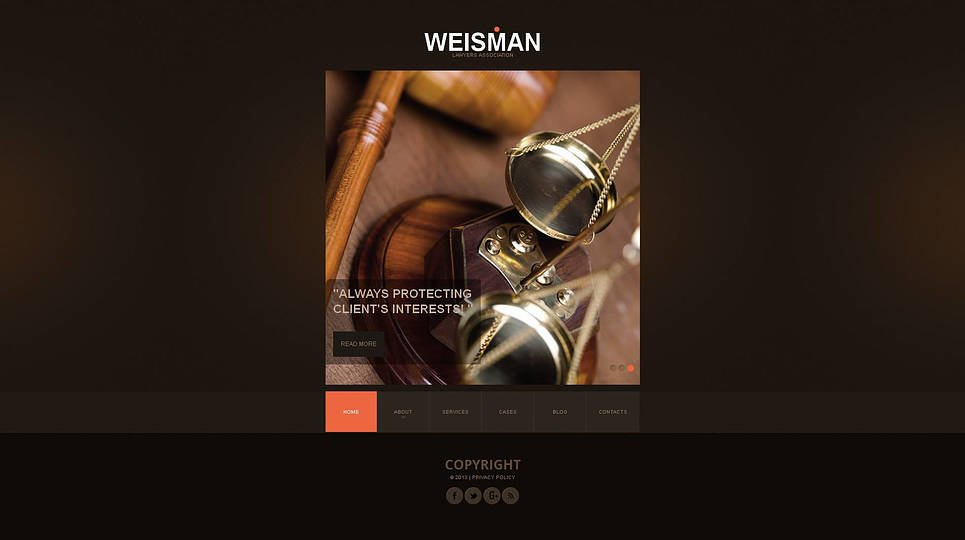 Law Website Template with Texture Background - image