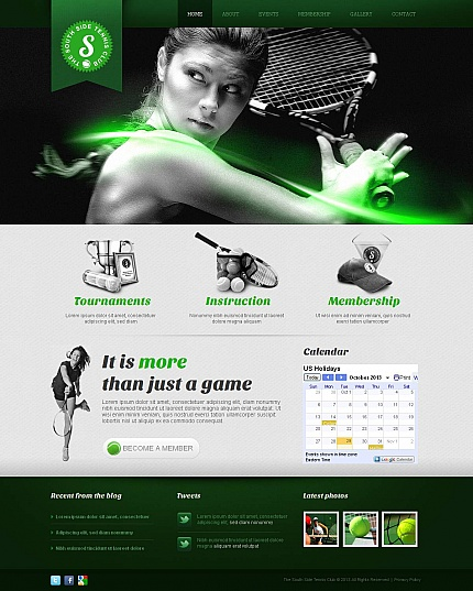 ADOBE Photoshop Template 47026 Home Page Screenshot