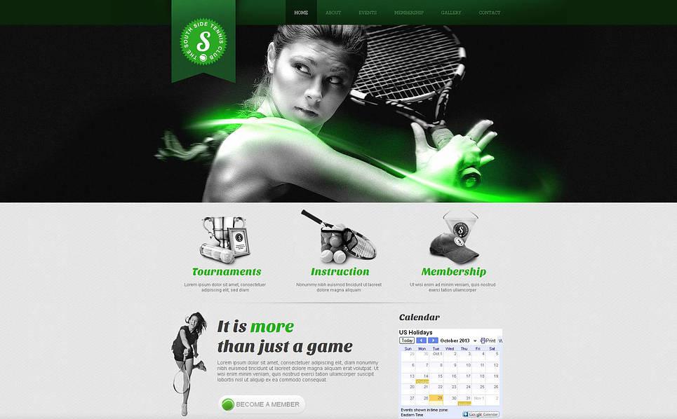 Premium Tenis  Moto Cms Html Şablon New Screenshots BIG