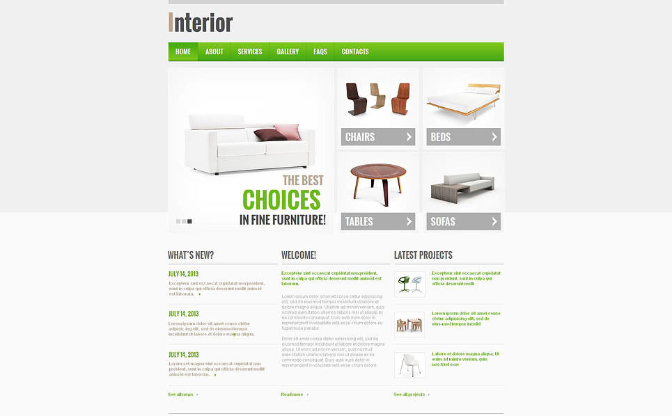 Template Moto CMS HTML para Sites de Design Interior №47030 New Screenshots BIG