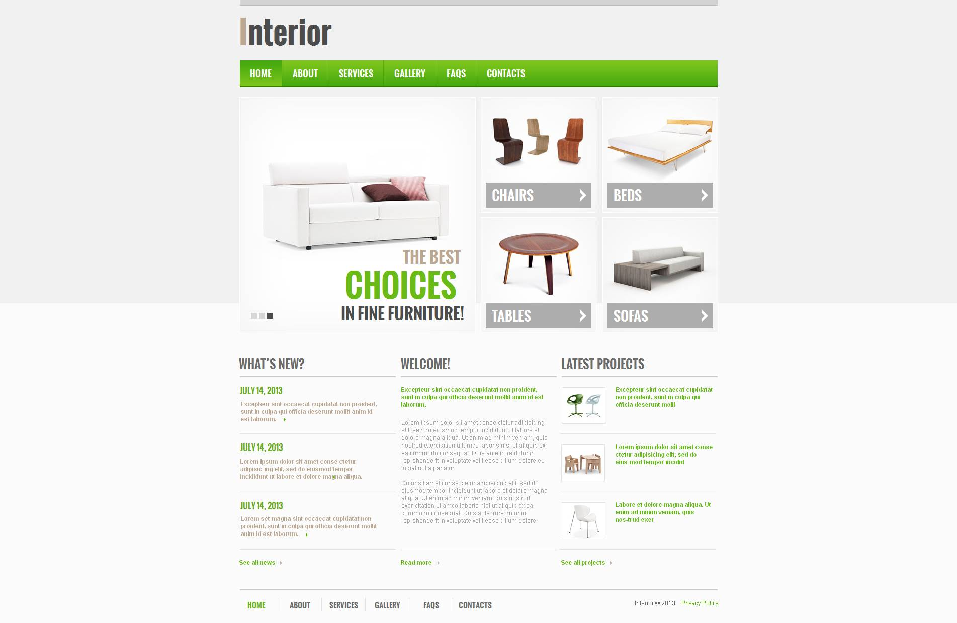 Mod le moto cms html 47030 pour site de design int rieur for Site de design interieur
