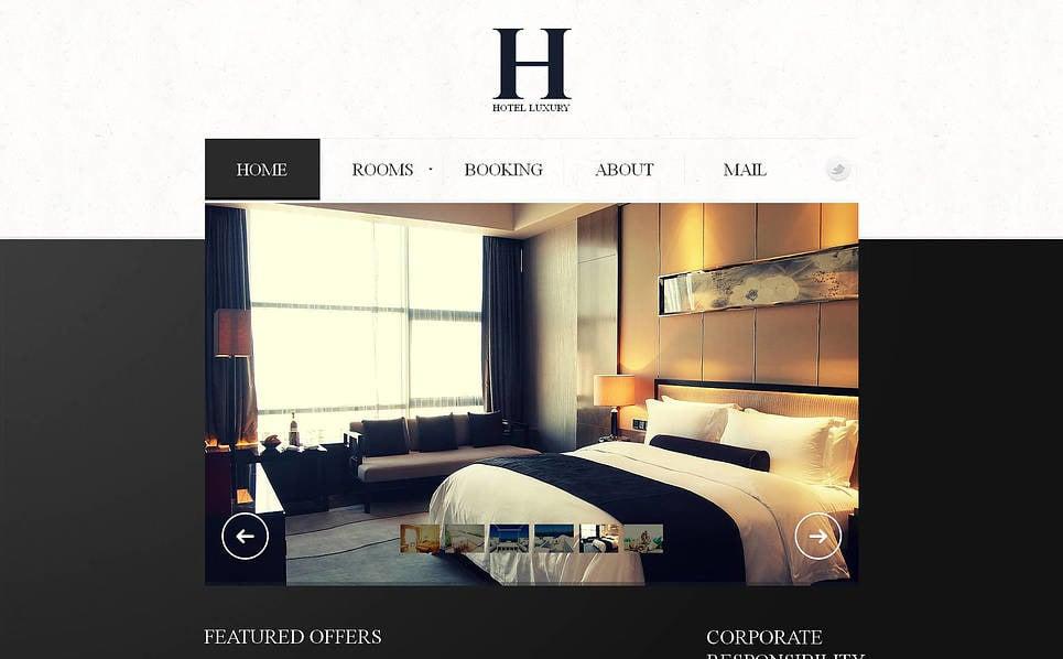 Premium Moto CMS HTML Template over Hotels  New Screenshots BIG