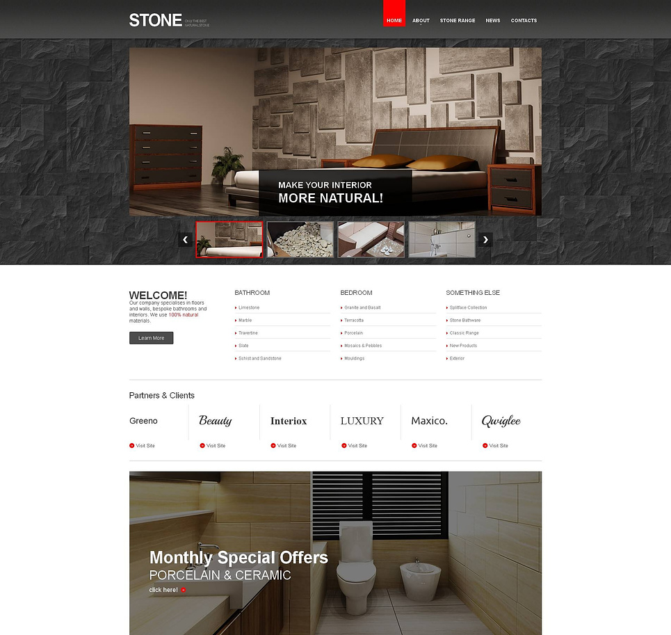 Flooring Website Template with jQuery Slideshow Gallery - image