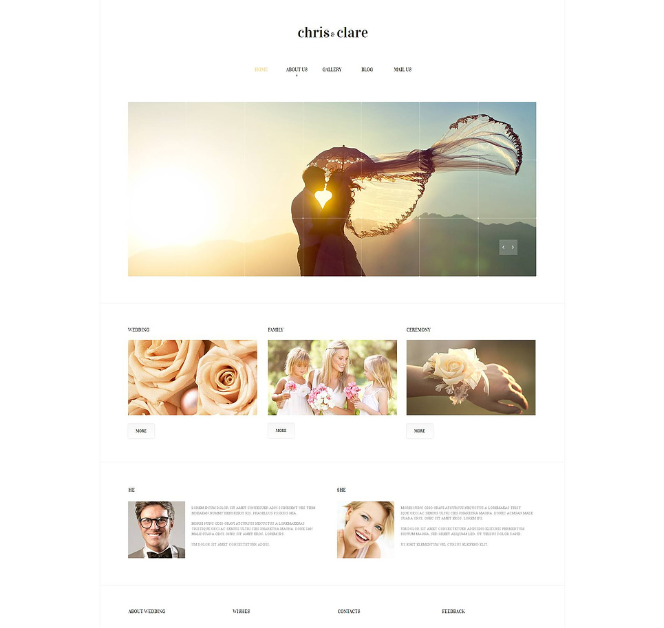 Wedding Website Template for a Couple in Love - image