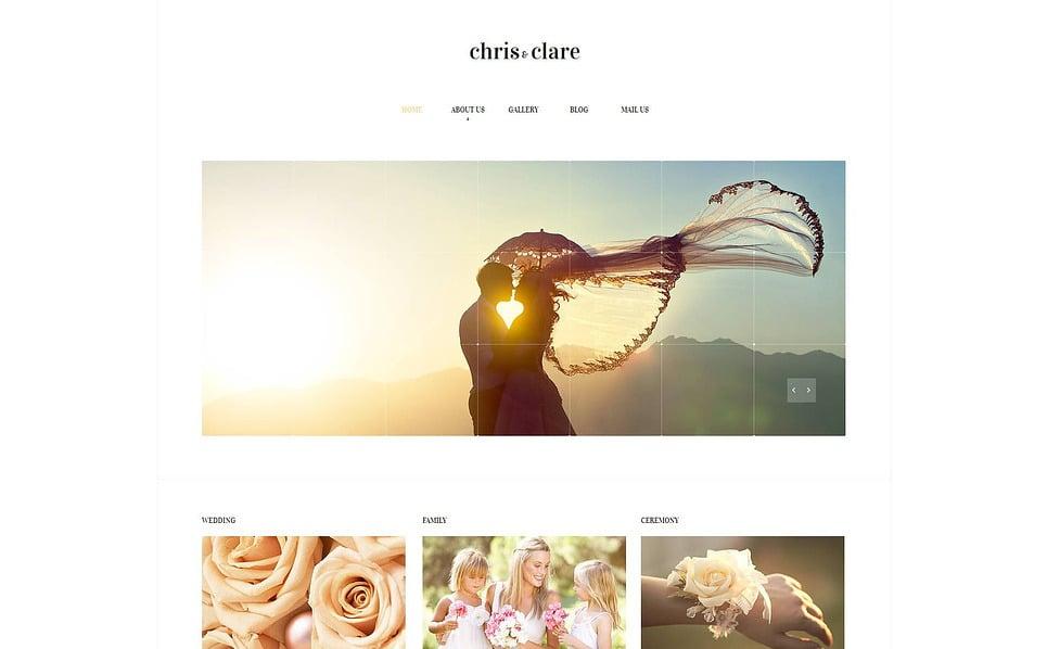 Modello Moto CMS HTML  #47039 per Un Sito di Album di Nozze New Screenshots BIG