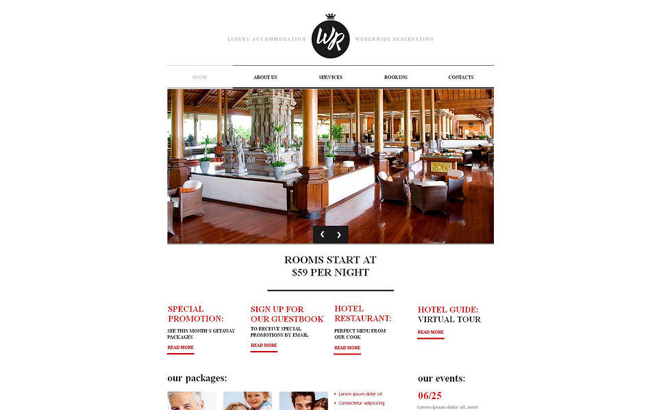 Plantilla Moto CMS HTML #47040 para Sitio de Hoteles New Screenshots BIG