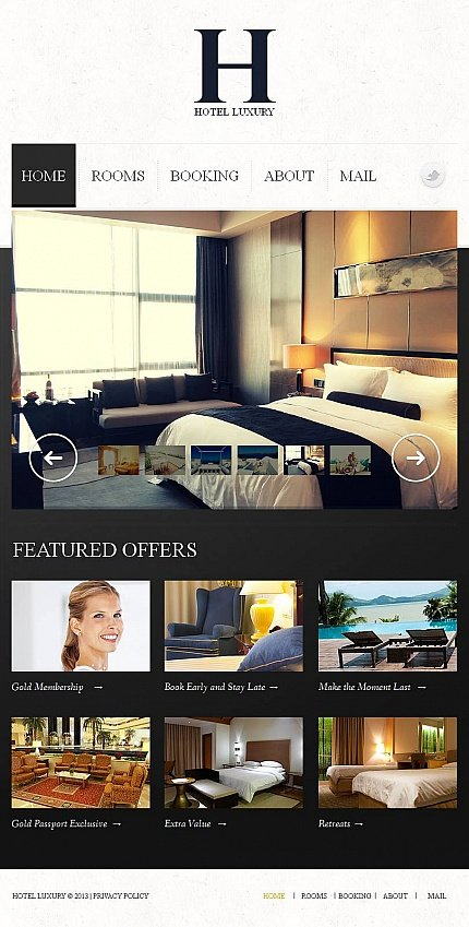 ADOBE Photoshop Template 47050 Home Page Screenshot