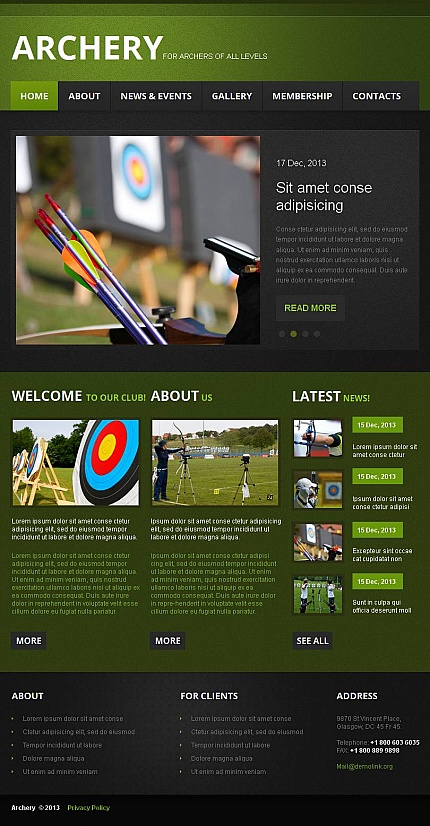 ADOBE Photoshop Template 47053 Home Page Screenshot