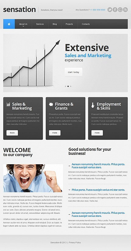 ADOBE Photoshop Template 47062 Home Page Screenshot