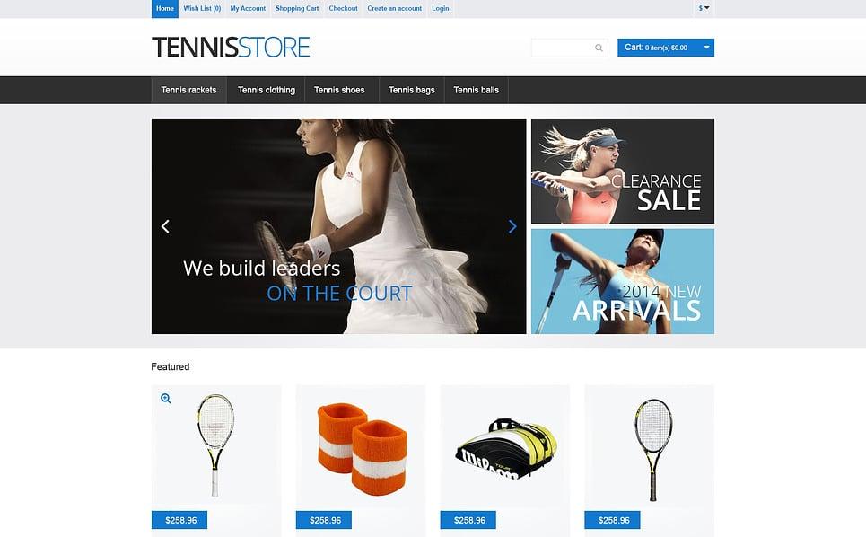 """OpenCart Vorlage namens """"Tennis-Ausrüstung"""" New Screenshots BIG"""