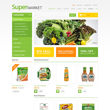 Купить  пофессиональные ZenCart шаблоны. Купить шаблон #47069 и создать сайт.