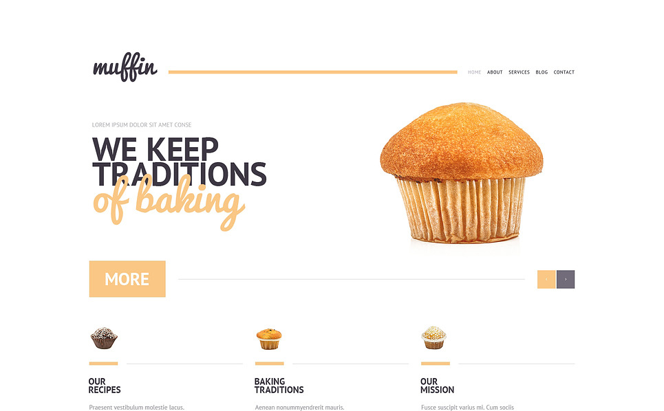 Responzivní WordPress motiv na téma Pekařství New Screenshots BIG