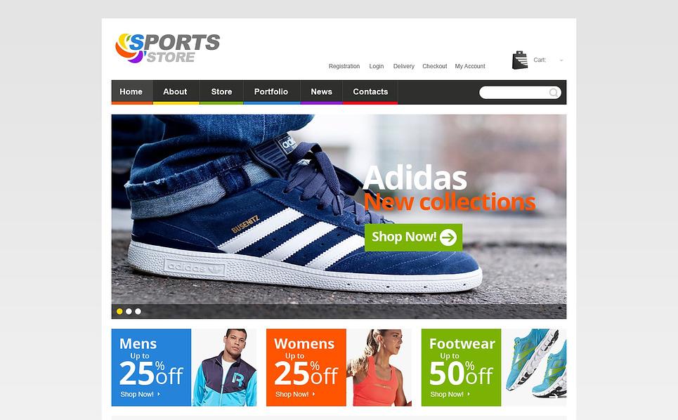 Адаптивний WooCommerce шаблон на тему спорт New Screenshots BIG
