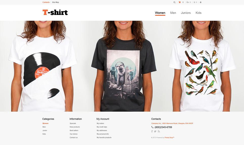 Responsive T-shirt Mağazası  Prestashop Teması New Screenshots BIG