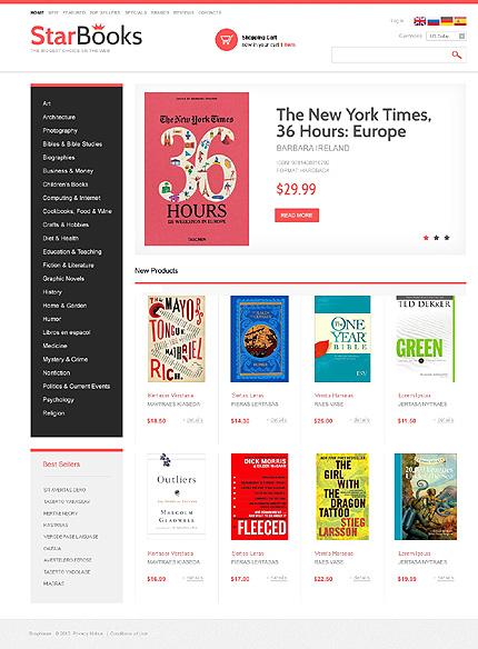 osCommerce Template 47089 Main Page Screenshot