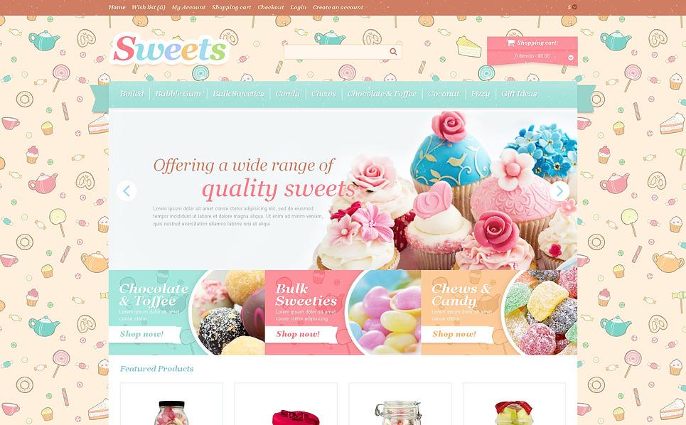 Szablon OpenCart #47092 na temat: cukiernia New Screenshots BIG