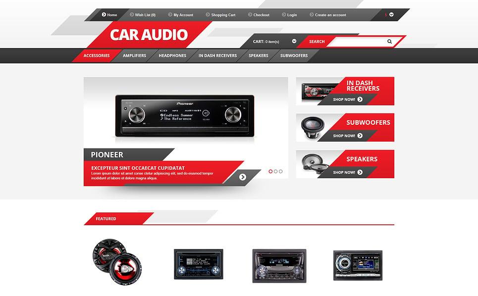 Plantilla OpenCart Responsive para Sitio de Audio para coches New Screenshots BIG
