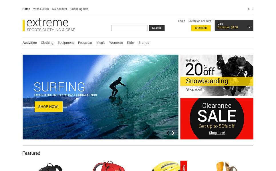 Responsive OpenCart Template over Extreme Sporten  New Screenshots BIG