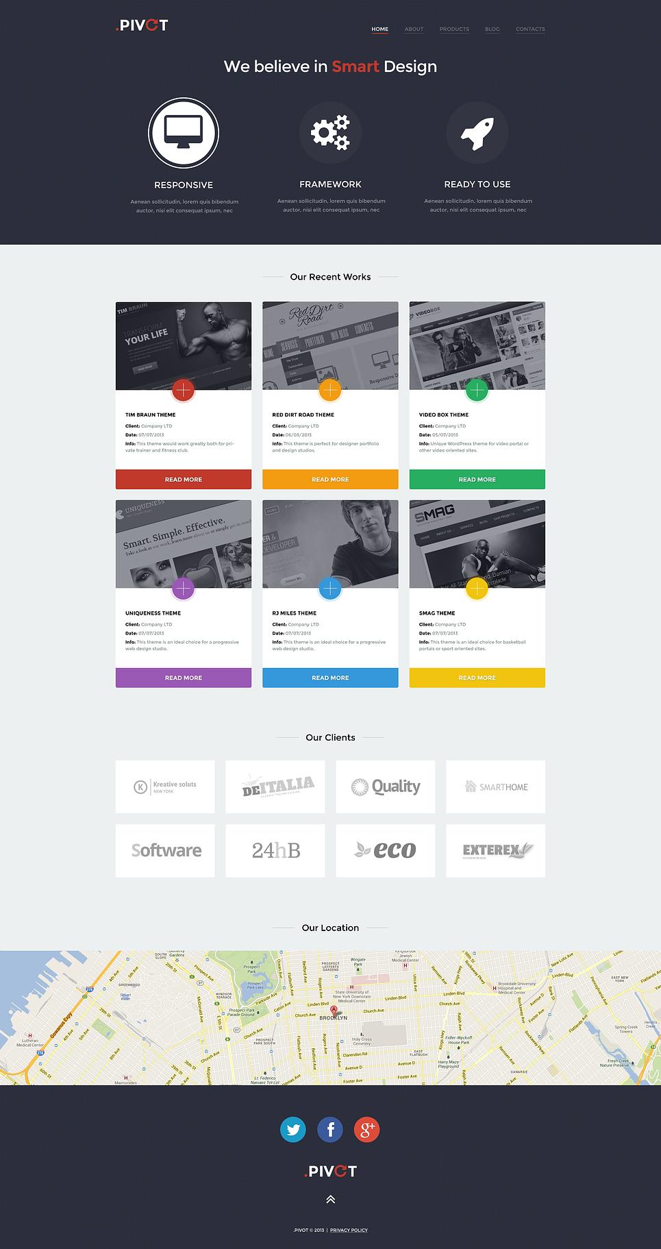Адаптивный шаблон сайта на тему дизайн студия #47002