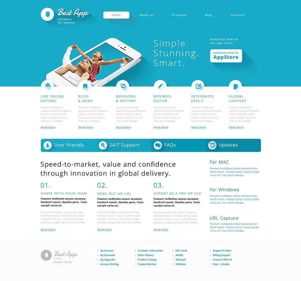 Адаптивный шаблон сайта на тему компания по разработке по #47009