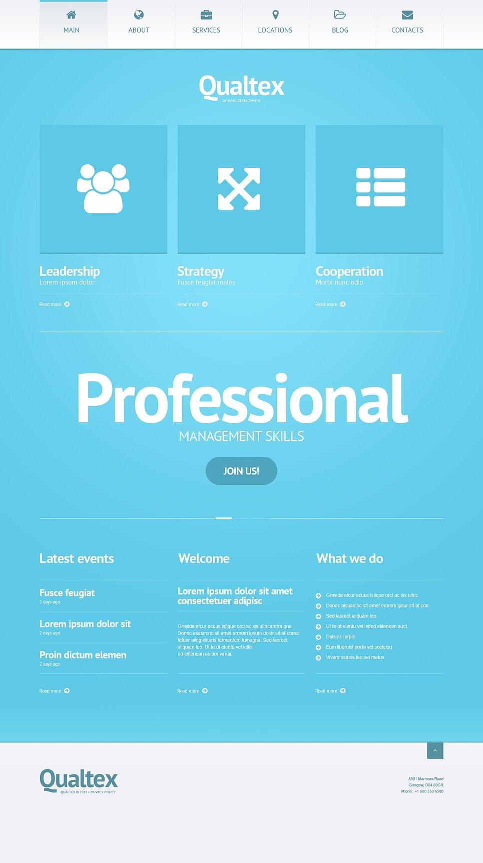 Адаптивный шаблон сайта на тему управляющая компания #47010