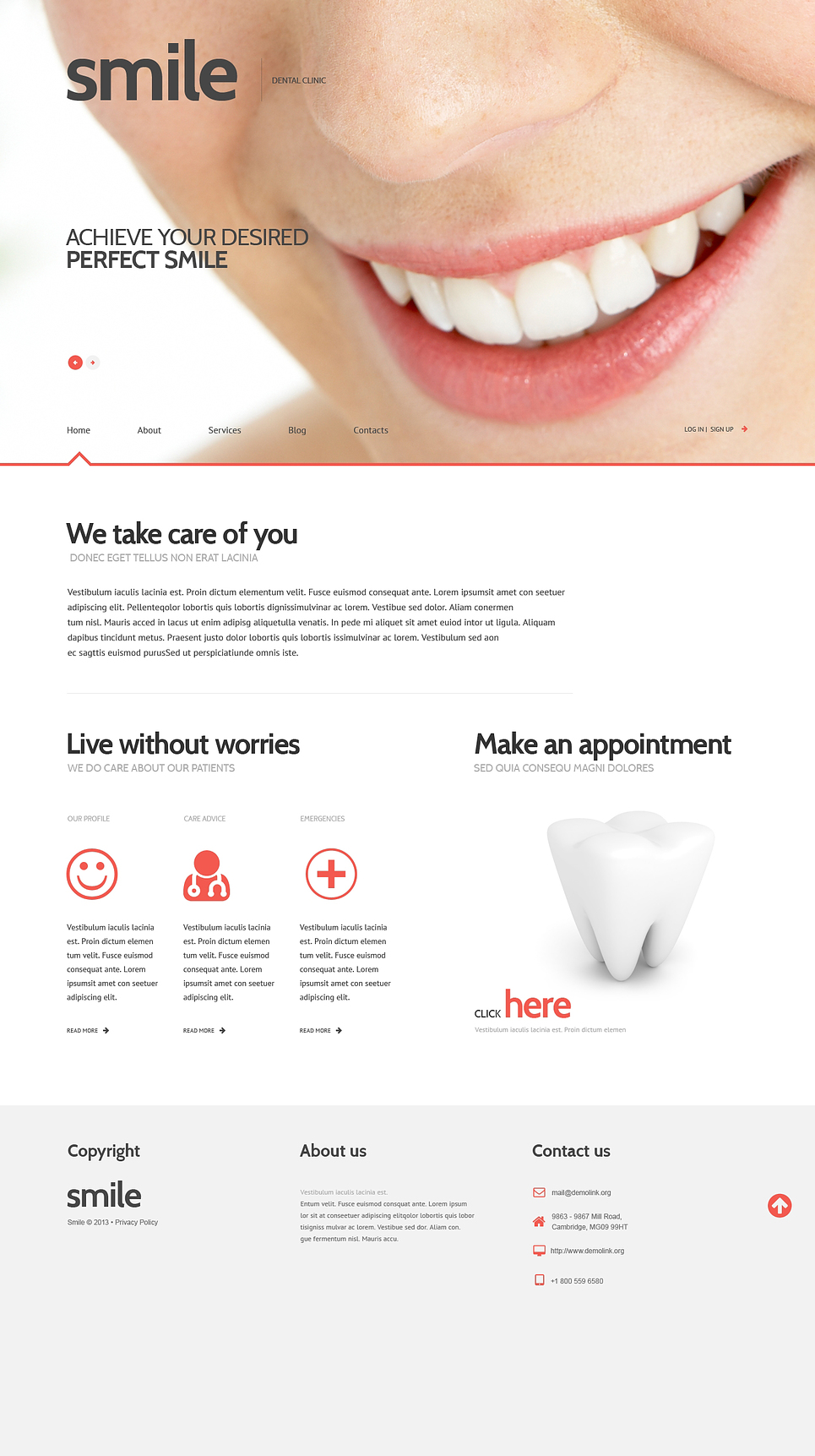 Адаптивный шаблон сайта на тему стоматология #47011