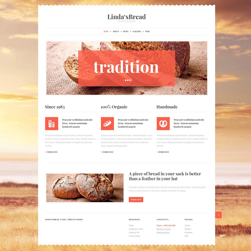Адаптивный шаблон сайта на тему хлебобулочные изделия #47015