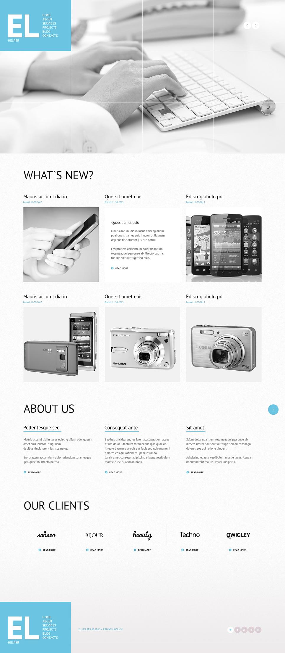 Адаптивный шаблон сайта на тему магазин мобильной связи #47017