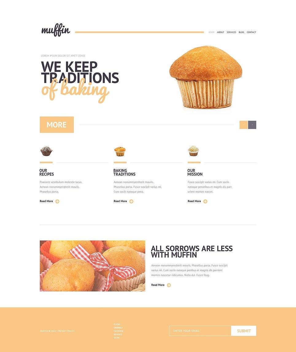 Адаптивный шаблон сайта на тему хлебобулочные изделия #47072