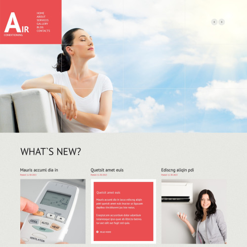 Air Conditioning - WordPress Template based on Bootstrap