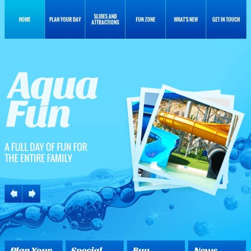 Aqua Fun - Facebook HTML CMS Template