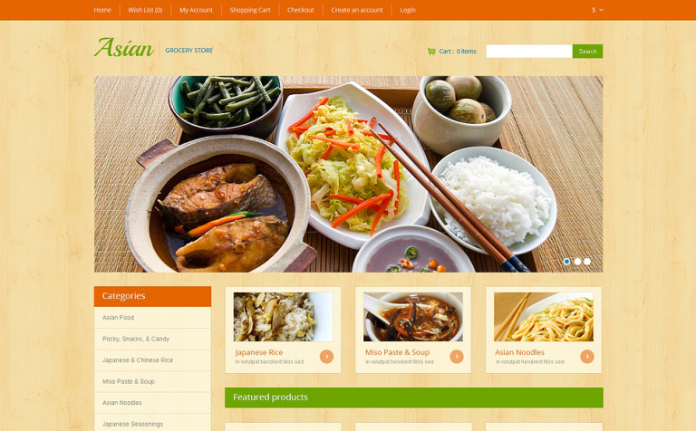 Asian Grocery OpenCart Template