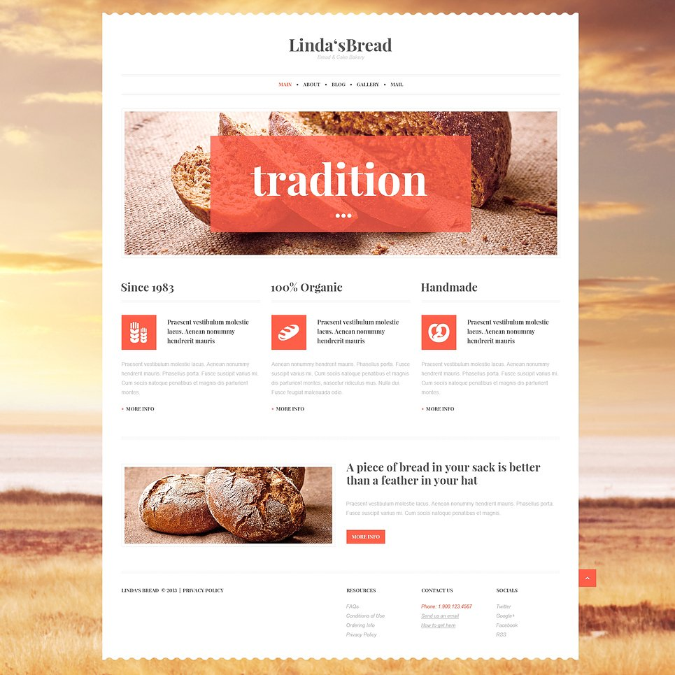 Bakery for Saving Tradition WordPress Theme
