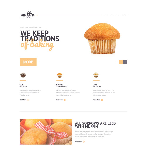 Muffin - WordPress Template based on Bootstrap