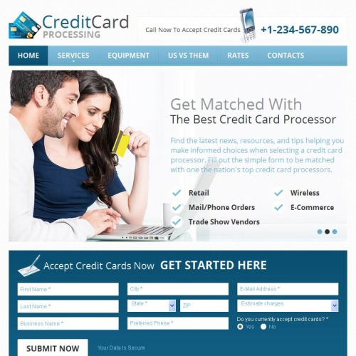 Credit Cards - Facebook HTML CMS Template