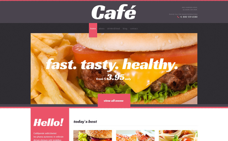 Cafe with Elegant View WordPress Theme