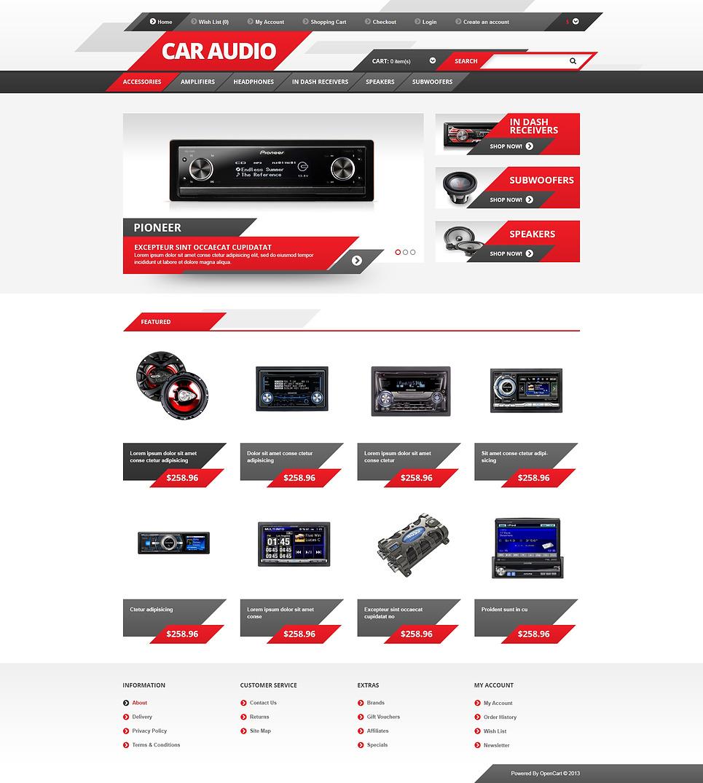 Car Audio OpenCart Template New Screenshots BIG