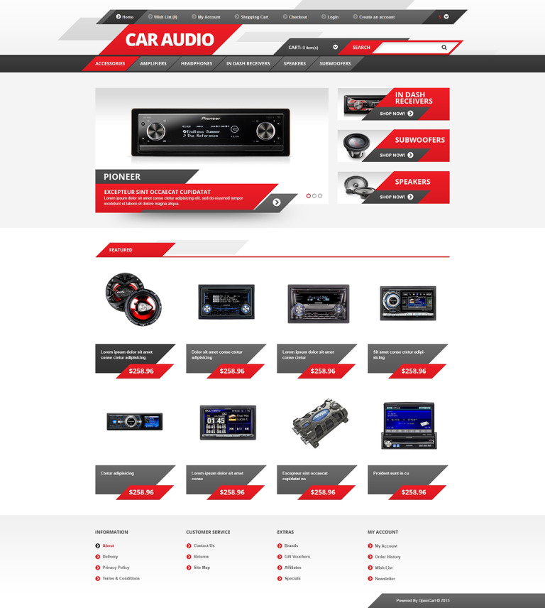 Car Audio OpenCart Template New Screenshots BIG